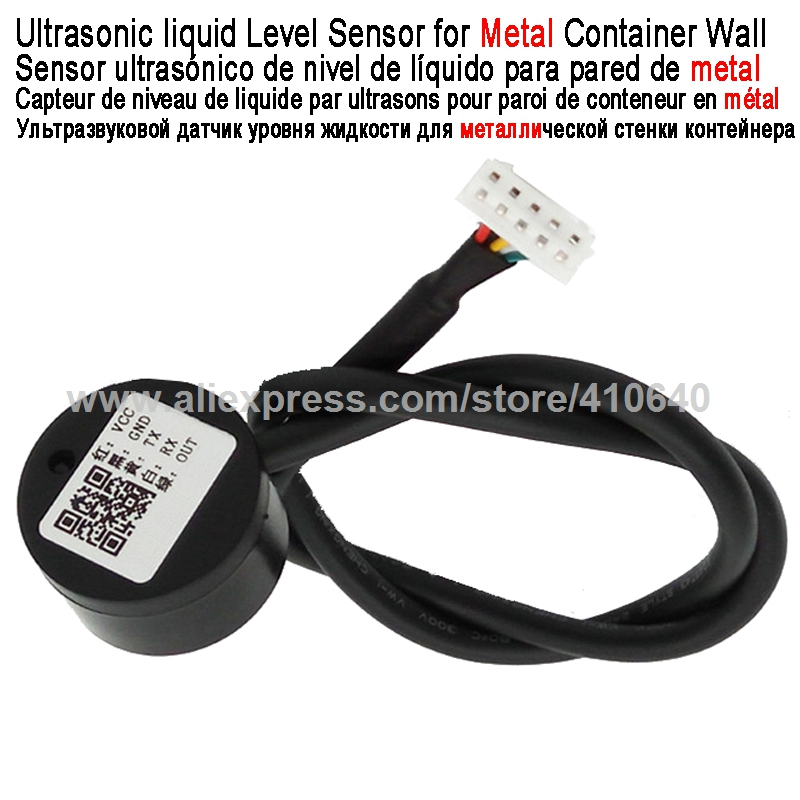 Ultrasonic Liquid Level Detector Liquid Level Sensor For Metal Container Wall Used For Special Industry Contactless