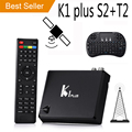 [Genuine] K1 Plus T2+S2 smart Android TV Box Amlogic S905 Quad Core 64-bit 1GB/8GB KI Support DVB-T2 DVB-S2 Android 5.1 OS