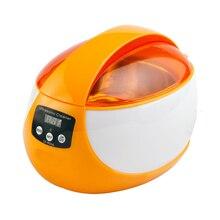 Цифровой ультразвуковой очистки Для ванной 750 мл 50 Вт 42 кГц с подогревом ультразвуковая стиральная зубные Часы Очки Монеты ногтей инструмент Часть таймер
