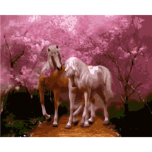 Horse Romantic Hand Made Paint High Quality Canvas Beautiful Painting By Numbers Surprise Gift Great Accomplishment(China)
