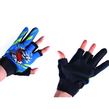 цена на Men and women fashion fishing gloves Outdoor Non-slip Fishing Protective Three Fingers Cut Sports Half Finger