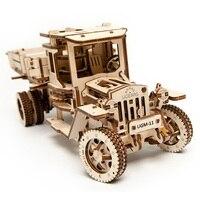 UGEARS деревянный механический привод модель ручной грузовик собрать модель комплект для взрослых игрушек