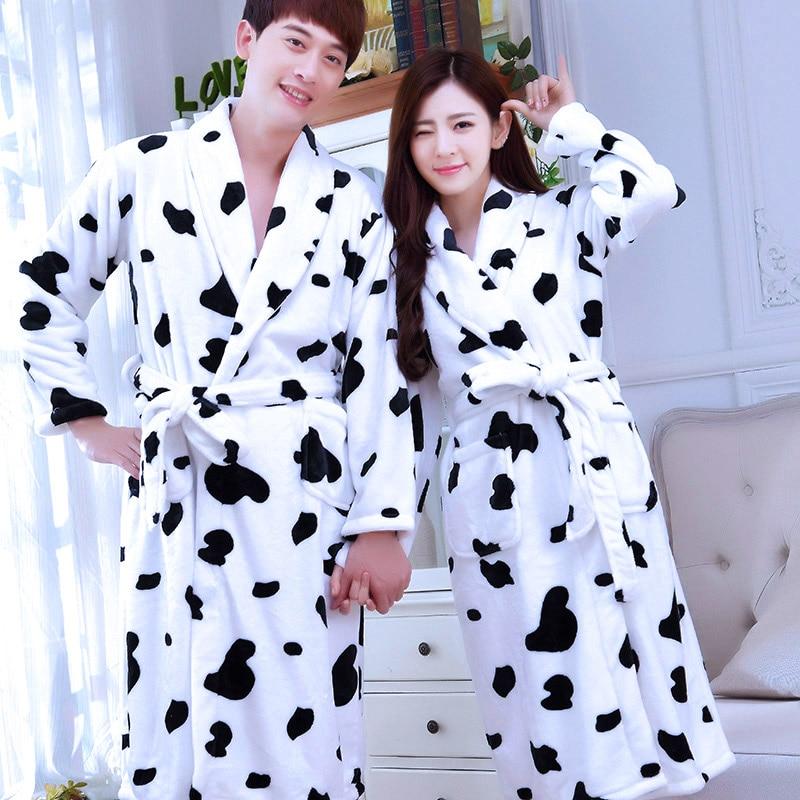 08acfd5d0ec6 € 30.08  Nuevo Albornoz adulto parejas manga larga Hombre Mujer ropa de  dormir baño pijamas Vestidos para mujeres Albornoz B 5953 en Sets de ...