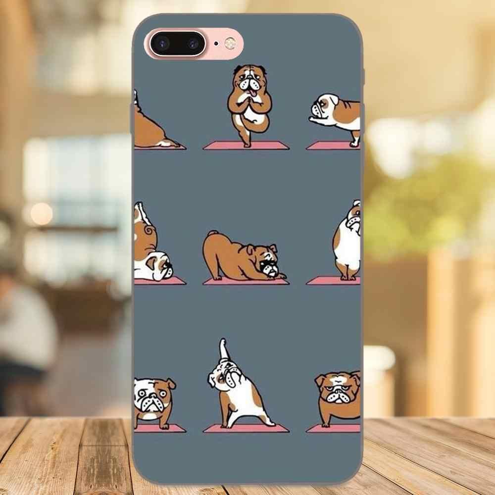 Dễ thương French Bulldog Con Lười Yoga Cho Xiaomi Redmi Lưu Ý 2 3 4 4A 4X5 5A 6 6A Cộng Với pro S2 Y2 TPU Túi Điện Thoại Di Động