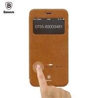 Original Baseus Terse Window Flip Leather Cases For IPhone 7 7 Plus Case Smart Sleep Phone