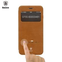 Baseus Смарт Сна Флип Кожаные Чехлы Для iPhone 7/7 Плюс случае Windows Phone Чехол Для iPhone 7 Случаев 7 Плюс Телефон Дело Coque