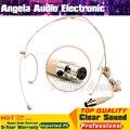 Цвет кожи Мини XLR 3 Контактный Разъем 3Pin TA3F Головной Крючком Микрофон Гарнитуры Микрофон Для SAMSON Беспроводной Поясной Передатчик