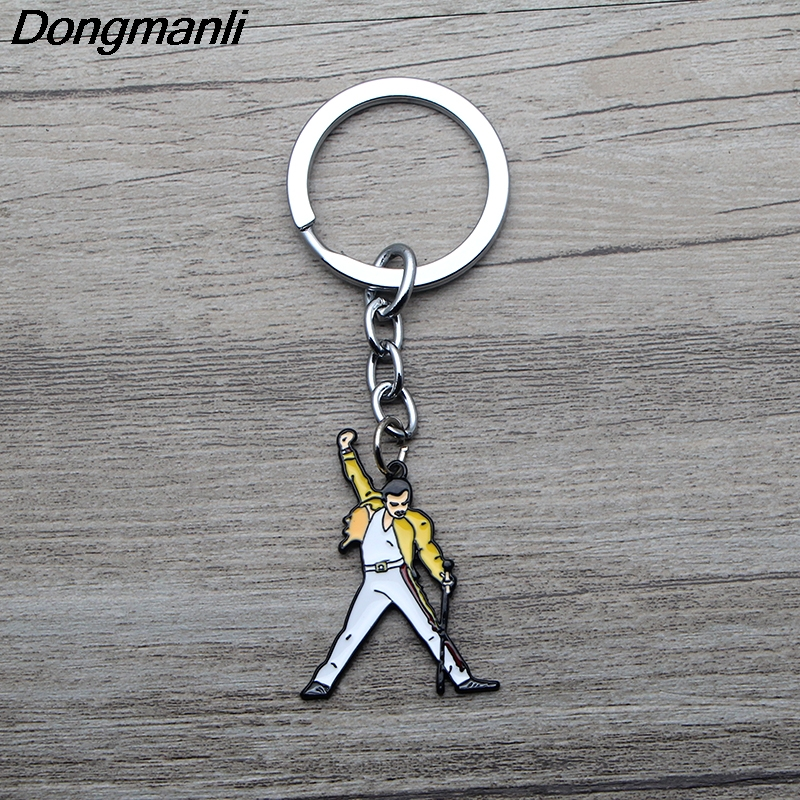 L3489 Music Art Freddie Mercury Car Keychain Key Rings Metal Enamel Jewelry Fans Gifts