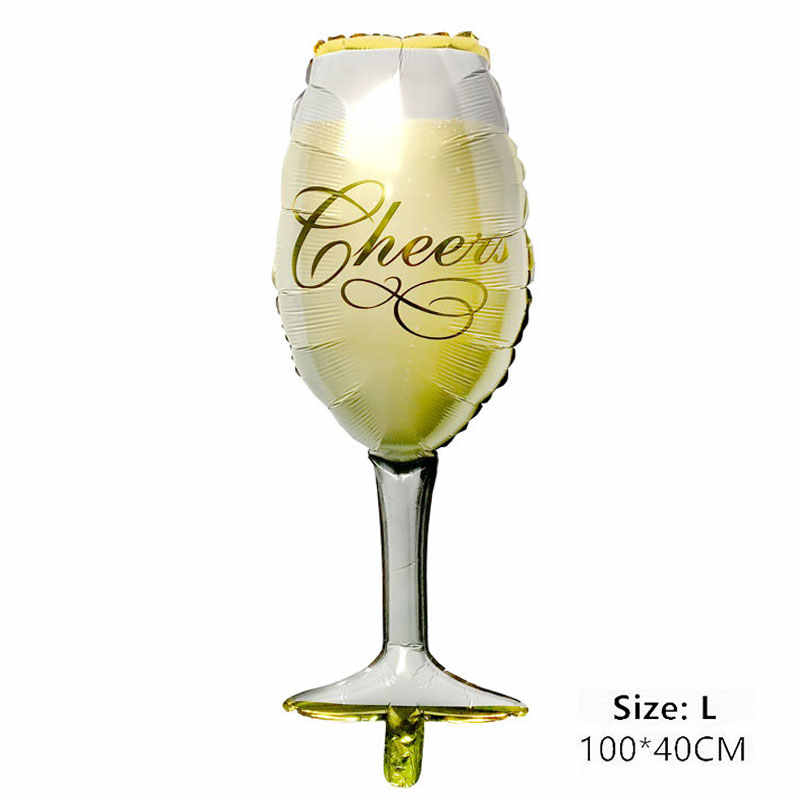 Whisky/Champagne Glasses Balloon Happy Birthday Party