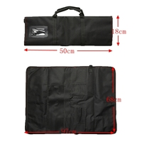 Portable 12 Pocket Chef Knife Bag Roll Bag Carry Case Bag Kitchen Cooking Accessorie sMulti function Durable Chef Storage Bag