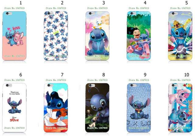 low priced 0b980 a36ab US $16.0  vcustom Mobile Phone Cases Wholesale 10pcs/lot Stitch Cartoon  Design Protective White Hard Case For Iphone 6 6th Cases-in Half-wrapped  Case ...