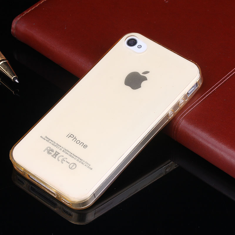 Soft Clear Cases 0.33MM Super Slim TPU Gel Silicon Phone Case For iPhone 4 4S Ultra Thin Transparent Cover Bags