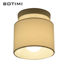 BOTIMI Warm Ceiling Lamp Fabric Lampshade Corridor Lamparas de techo Cloth Surface Mounted Indoor E27 Home Lighting Fixtures