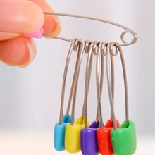 Buckles Nappy Locking-Brooch Safety-Pins-Supply Plastic Head Cloth Colorful 2-Size 30pcs