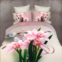 4pcs Grinding wool bedding 3 d sheet wedding suite double 1.5/1.8/2 meters bed quilt cover pillowcases