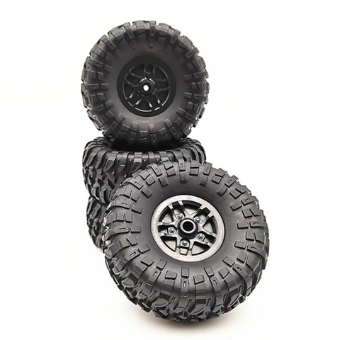 4 pcs RC Car Tires Wheels Rims Set for MN D90 D91 RC Car spare parts Crawler Car Assembled Tyre for Truck Parts & Accessories Pakistan