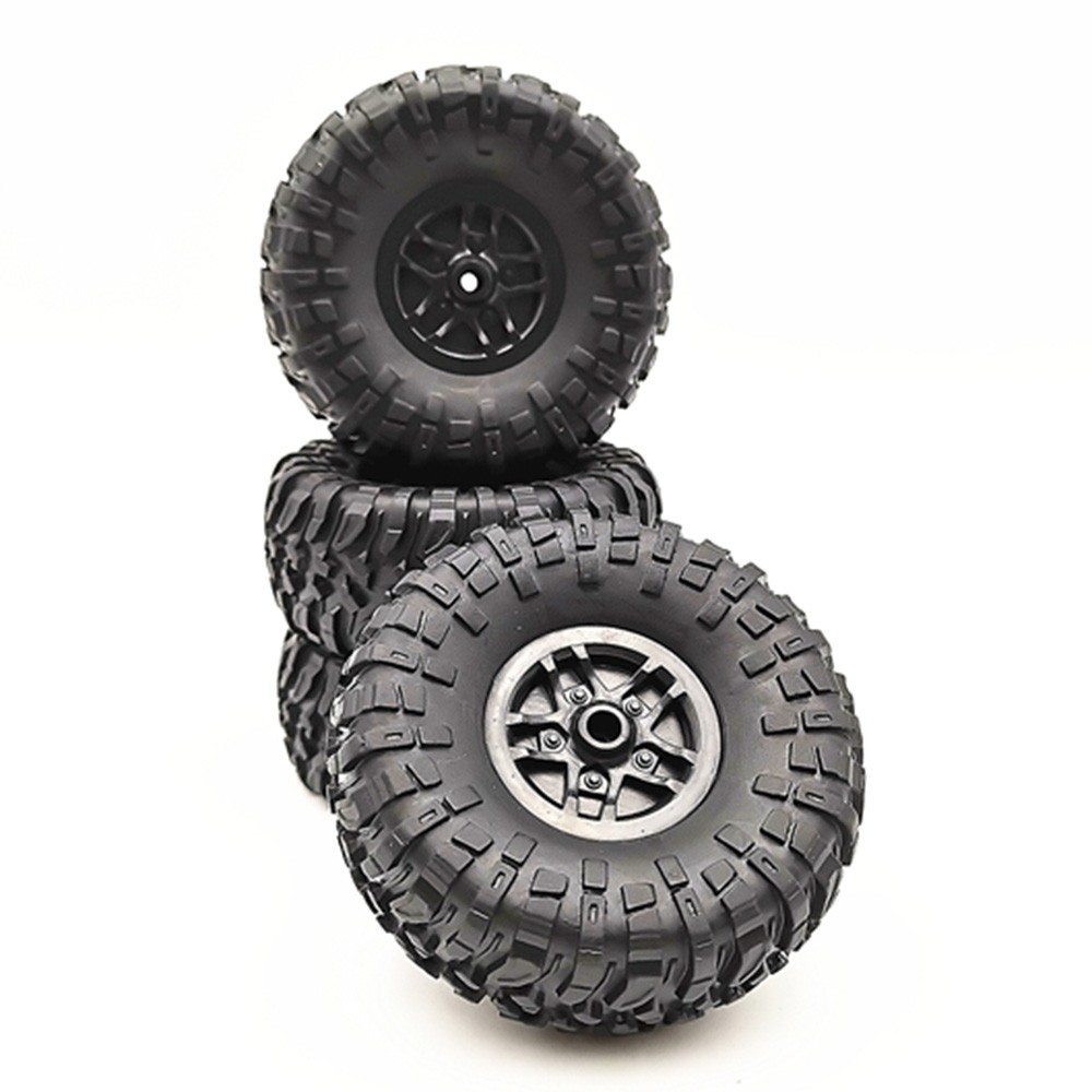 4 pcs <font><b>RC</b></font> Car Tires <font><b>Wheels</b></font> Rims <font><b>Set</b></font> for MN D90 D91 <font><b>RC</b></font> Car spare parts Crawler Car Assembled Tyre for Truck Parts & Accessories image