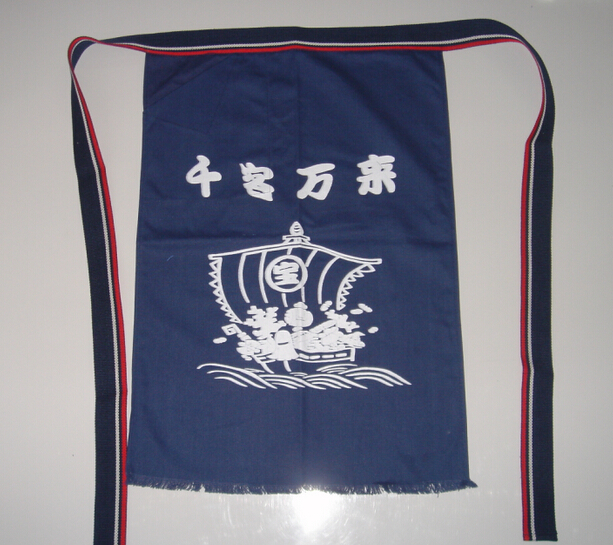 Gratis Verzending Vrouwen Mannen Japanse Karper Chef/cook Taille Schorten Sushi/sashimi Restaurant Bar Cook Uniform, Keren 64 Cm Lange Fijn Vakmanschap