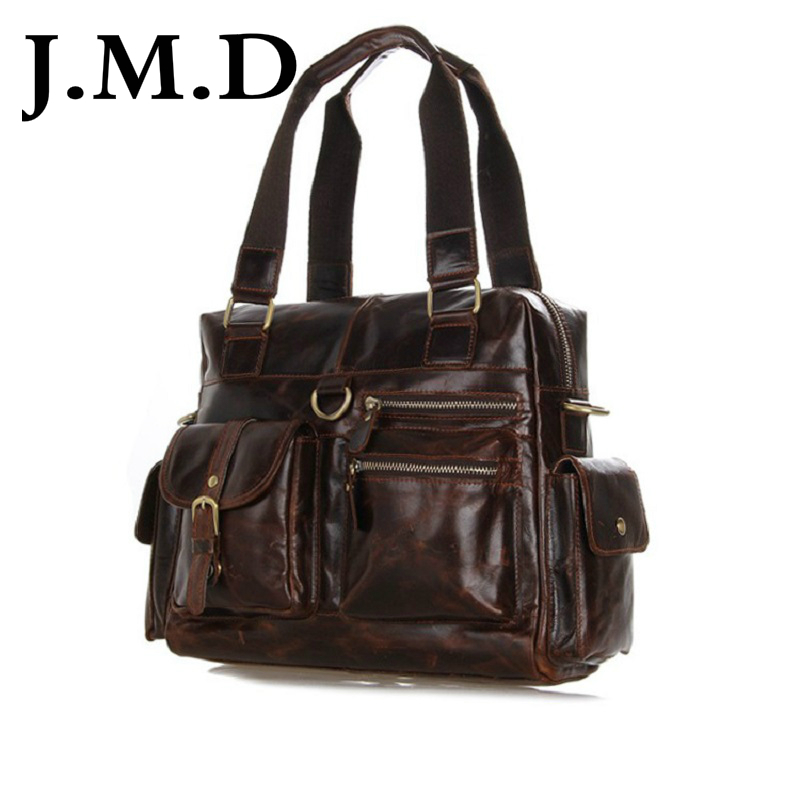 ФОТО J.M.D 2017 New Arrival 100% Men's Fashion Leather Bag  Cross Body Briefcase Sling Bag Shoulder Messenger Bag Handbags 7207