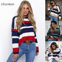 shuoman Pull Loose jumpers Winter sweaters women by the way of Korea Thick sweater Knitting sweaters, pullovers Christmas UNIF