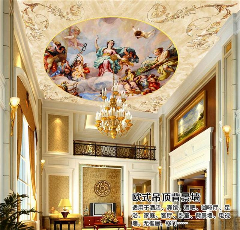 3d wallpaper ceiling murals custom 3d photo non woven Luxury