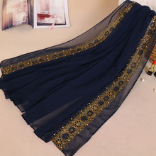 85*180cm muslim cotton hijab scarf for women islamic lace headscarf foulard femme plain shawls and wraps hijab ladies