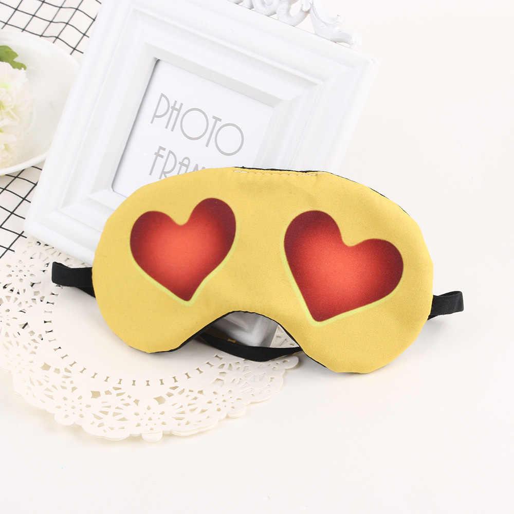 1 pcs 3D การพิมพ์ Sleeping Eye หน้ากากการ์ตูนน่ารัก emoji Nap Eye Care Shade Blindfold Sleep หน้ากากดวงตานอนหลับเครื่องมือ