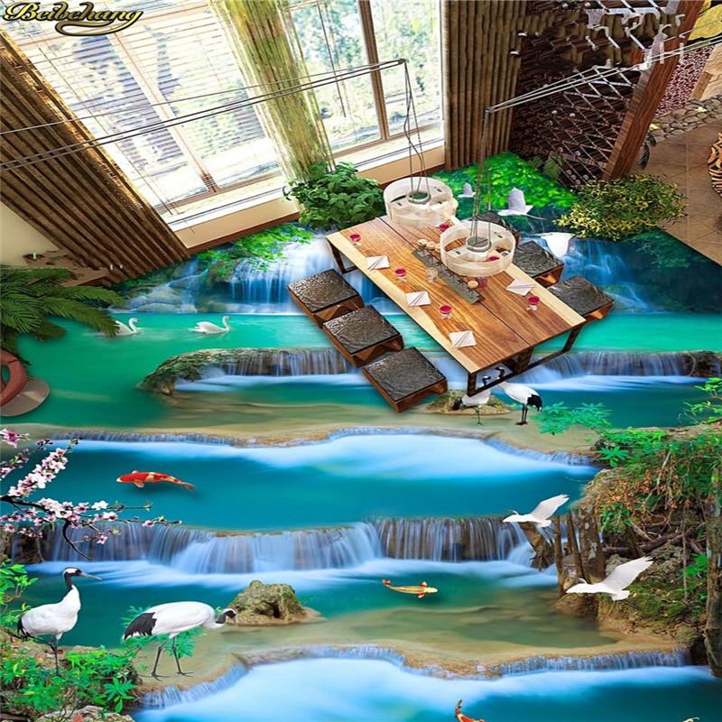 beibehang Custom Photo Wallpaper Floor Painting Lottery Water Choi Hung Juju Basin 3D Stereo Painting Flooring papel de parede lottery boy