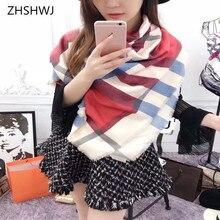 6555818b4173  ZHSHWJ  Automne et D hiver Nouvelle de femmes écharpe en cachemire de  haute qualité écharpe décoration chaud écharpe tendance p.
