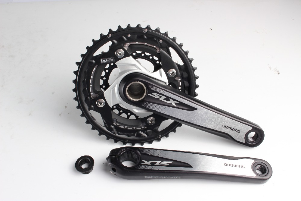 Shimano SLX M670 bike bicycle mtb 3x10 speed 30s crankset 42-32-24T 170mm/175mm Crank without BB шатуны mtb fsa gravity extreme bash 36 24t 175mm