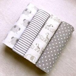 Высокое качество, 4 шт./упак., 100% хлопок, супермягкое Фланелевое детское одеяло, пеленание, детское постельное белье, 76*76 см, детские одеяла дл...