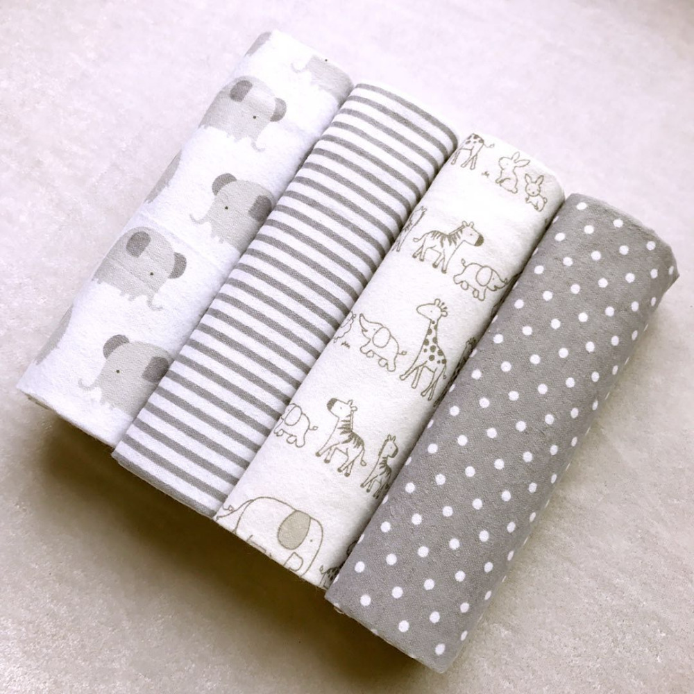 Высокое качество 4 шт./упак. 100% хлопок Supersoft фланель, получающие детское одеяло пеленать ребенка простыня 76*76 см детское одеяло s новорожденны... ...