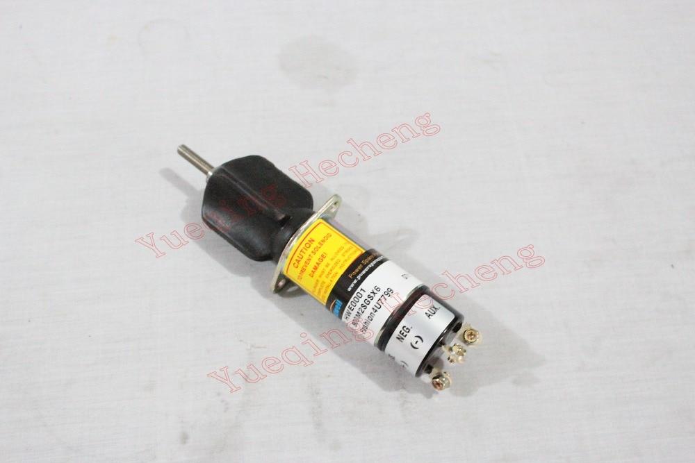 New Fuel Stop Solenoid 1502-12D6U1B1S1A 1502 Series 307-2546 12V 1502 12a6u1b1 for solenoid 1500 2004 12v 1502