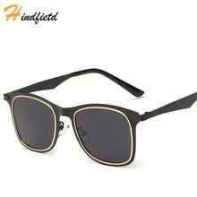 Hindfield Nuevas gafas de Sol de Moda Para Hombres de Pesca gafas de Ojos Gafas gafas de sol para los hombres Conductor Espejo de Gran Tamaño Cuadrado Negro