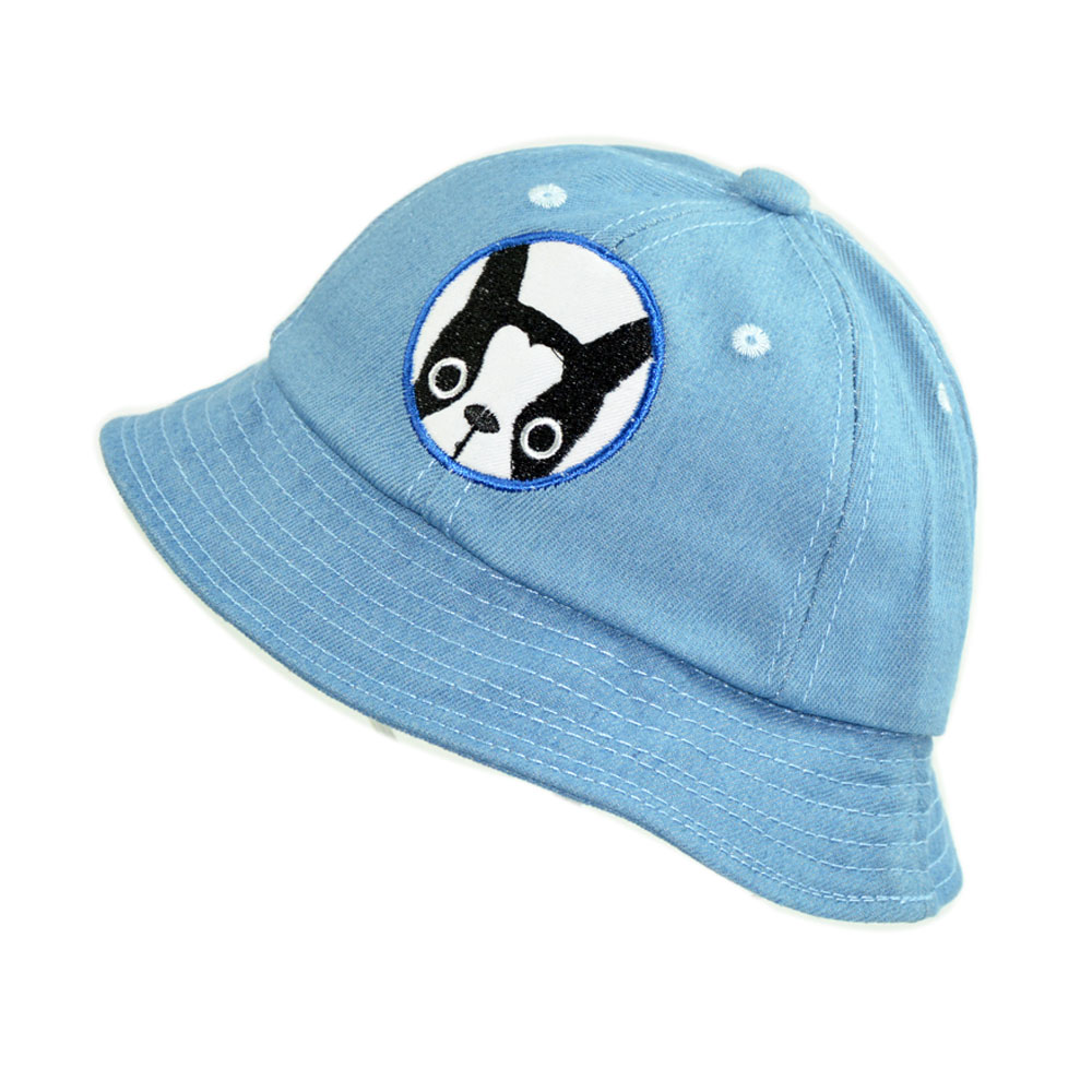 5e84ae40385 Cute Baby Bucket Hat Cartoon Dog Little Cowboy Summer Cotton Boys and Girls  1 3 years Panama Sun Hat-in Bucket Hats from Apparel Accessories on ...