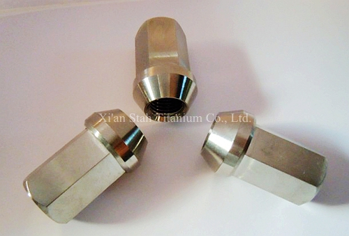 Titanium TC4 Vok Rays 35 Car Wheel Lock Lug Nuts 12 X 1.25 X 35mm / 12 X 1.5 X 35mm Acorn Rim Forged Dura High Quality