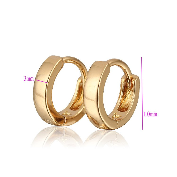 Σκουλαρίκια μωρών Σκουλαρίκια χρυσού - Κοσμήματα μόδας - Φωτογραφία 3