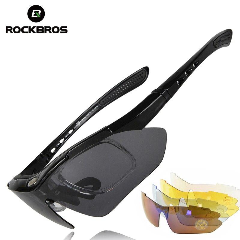 ROCKBROS Polarizadas Deportes Hombres gafas de Sol Gafas de Ciclismo de Carretera de Montaña Andar en Bicicleta Gafas de Protección Gafas Lente 5