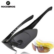 ROCKBROS Polarized Cycling Glasses Men Sports Sunglasses Roa