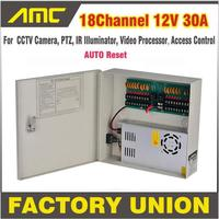 CCTV мощность коробка 18 каналов В 12 В 30A Поддержка PTZ ИК осветитель управление доступом для 18CH DVR CCTV камера питание