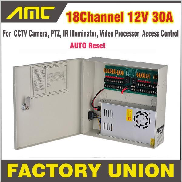 CCTV Power Box 18 Channel 12V 30A Support PTZ IR Illuminator Access Control for 18CH DVR