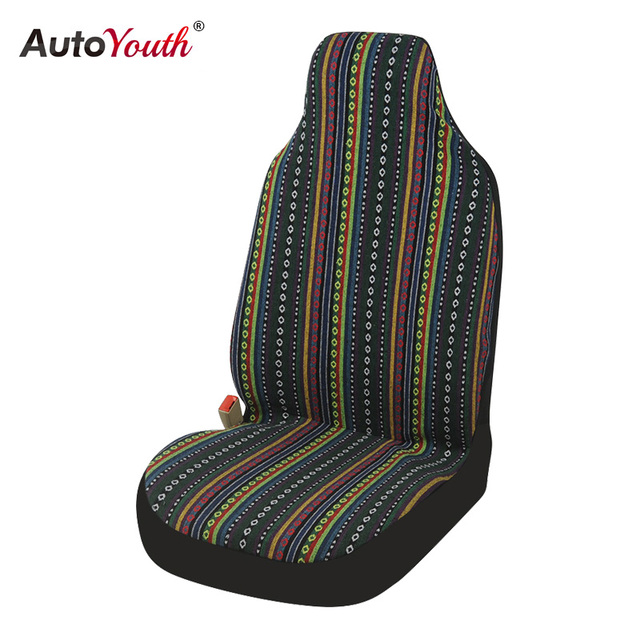 Universal Stripe Colorful Front Seat Cover Saddle Blanket Baja Bucket Covers Seats Protectors For Car