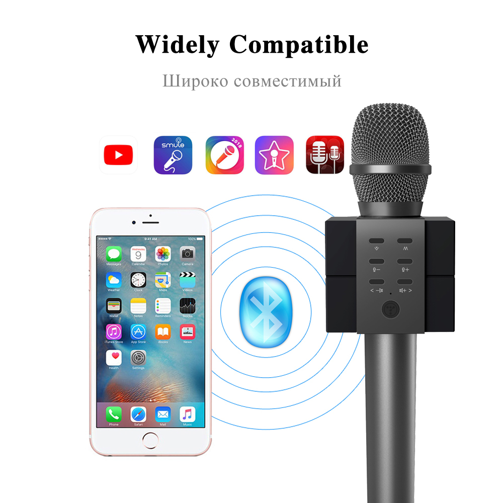 Tosing 011 Karaoke Microphone Outdoor Bluetooth Portable Speaker Singer Condenser Unit Wiring Diagram Singing Party Kids Gift Tf Card Play Eliminating Original Sing In Microphones From