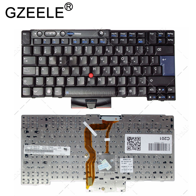 GZEELE Spanish SP keyboard for Lenovo for IBM X220 X220I X220T T410I T510I W520 T510 T520 T420S T520 Teclado 45N2116 45N2151 NEW стоимость