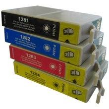 Для epson T1281 T1282 T1283 T1284 Ink Cartridge For Epson Stylus S22 SX125 SX130 SX435W SX230 SX235W SX420W SX425W T1281