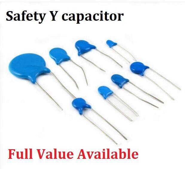20PCS Safety Y Capacitor 250VAC 400VAC 471M 222M 472M 102M 103M 470PF 1000PF 1NF 2.2NF 4.7NF 10NF 0.0022UF 0.0047UF 0.001UF 470P