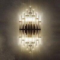 Современные европейские кристалл настенный светильник Дизайнер творческой личности Спальня прикроватной тумбочке Задний план проход кри