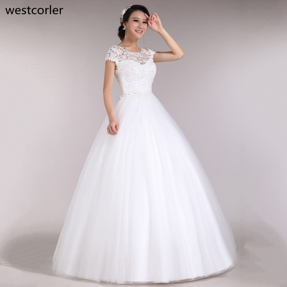 Plus size wedding dress 2017 scoop lace hand beading short for White wedding dress cheap