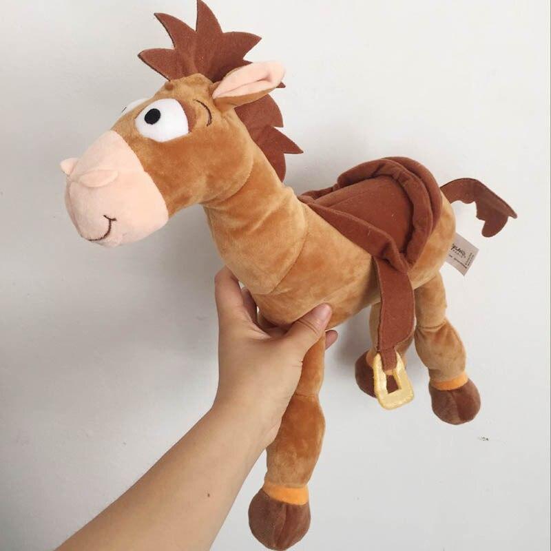 Free Shipping 23cm 9'' Original Movie Toy Story 4 Plush Bullseye The Horse Figure Soft Kids Doll Toys For Children's Gift