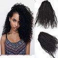 Clip En Extensiones de Cabello Humano Mongol Kinky Rizado Clip En Extensiones de cabello Afro Rizado Rizado Pelo Ins Clip De Negro mujeres